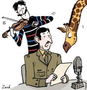 TV5MONDE - Pour Radio Londres, les girafes ne portent pas de faux-col